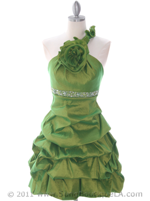 Green Homecoming Dress - Front Image
