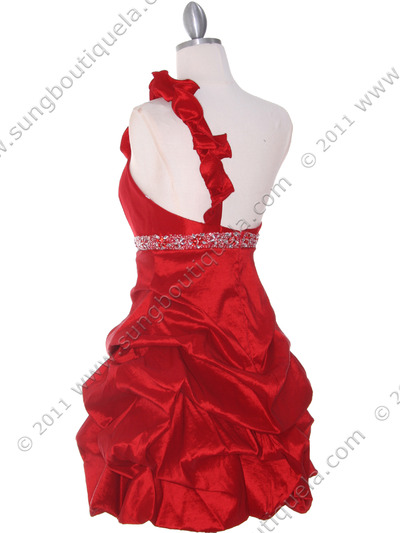 187 Red Homecoming Dress - Red, Back View Medium