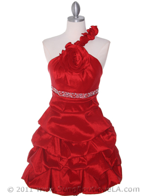 Red Homecoming Dress - Front Image