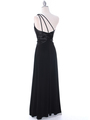 1888 Black One Shoulder Evening Dress - Black, Back View Thumbnail