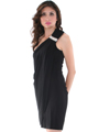 1901 Cocktail Dress with Rhinestone Decor - Black, Alt View Thumbnail