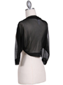 1913 Black Bolero Jacket - Black, Back View Thumbnail