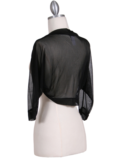 1913 Black Bolero Jacket - Black, Back View Medium
