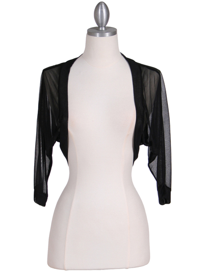 1913 Black Bolero Jacket - Black, Front View Medium