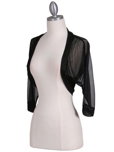 1913 Black Bolero Jacket - Black, Alt View Medium