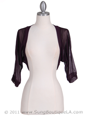 Purple Bolero Jacket - Front Image