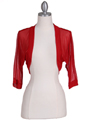 1913 Red Bolero Jacket - Red, Front View Thumbnail