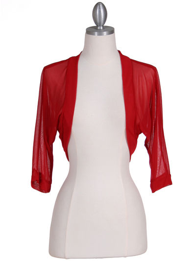 1913 Red Bolero Jacket - Red, Front View Medium