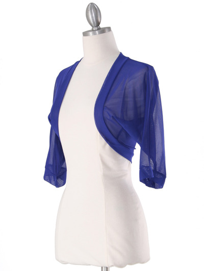 1913 Royal Bolero Jacket - Royal, Alt View Medium
