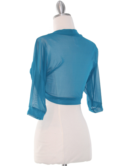 1913 Teal Bolero Jacket - Teal, Back View Medium