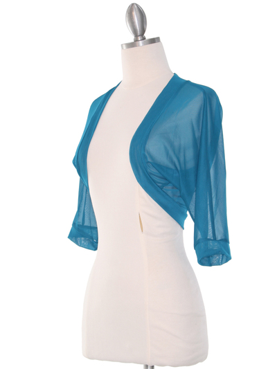 1913 Teal Bolero Jacket - Teal, Alt View Medium
