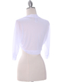 1913 White Bolero Jacket - White, Back View Thumbnail
