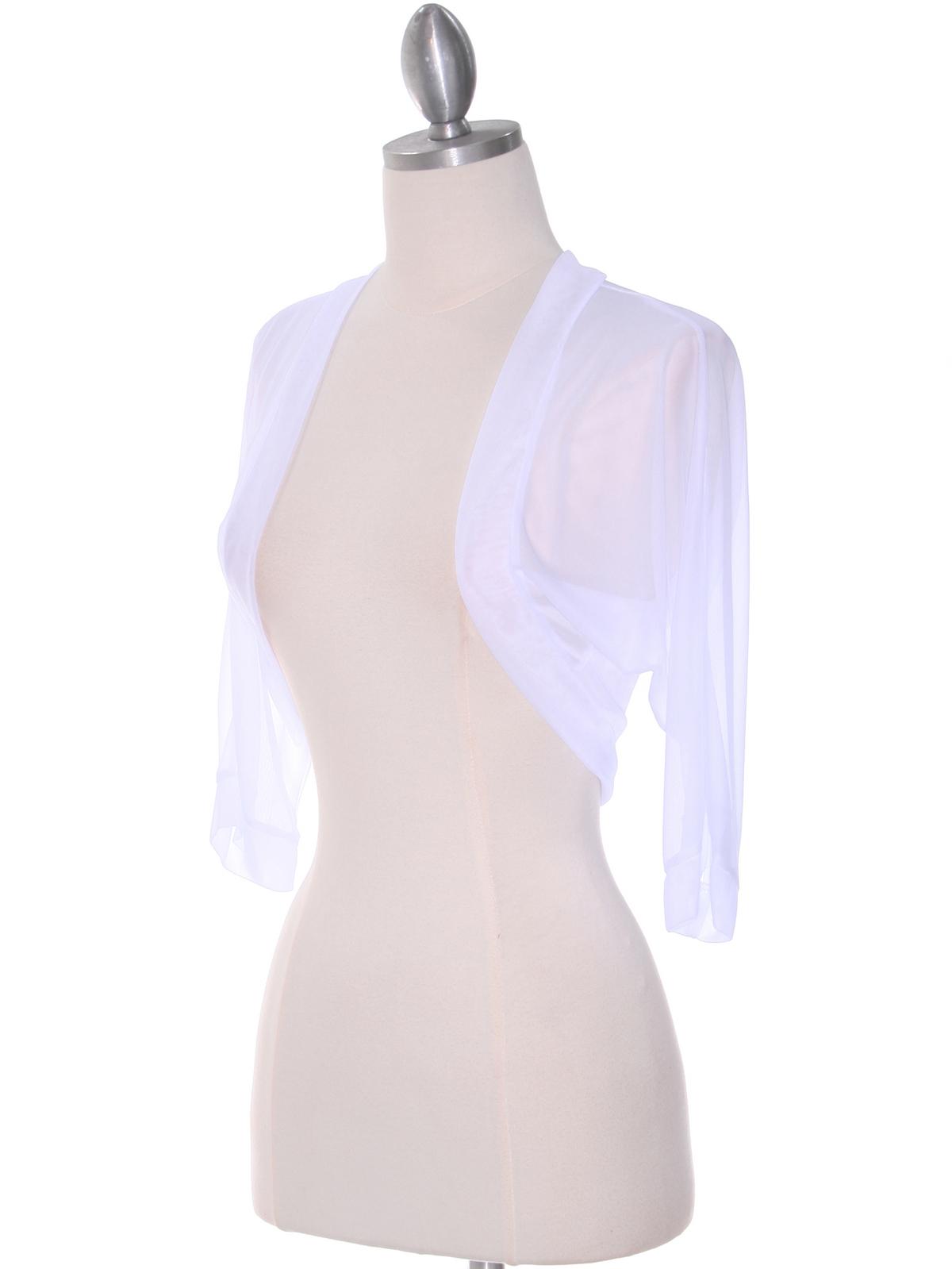 White Bolero Jacket Sung Boutique L A