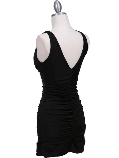 1921 Black Party Dress - Black, Back View Medium