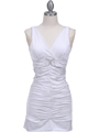 1921 White Party Dress - White, Front View Thumbnail