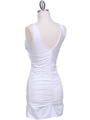 1921 White Party Dress - White, Back View Thumbnail