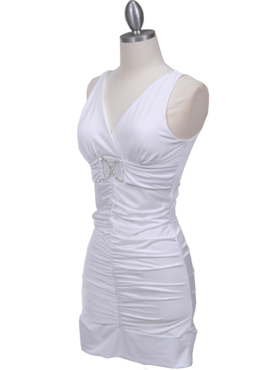 1921 White Party Dress - White, Alt View Medium