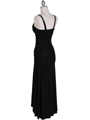 1924 Black Cocktail Dress - Black, Back View Thumbnail