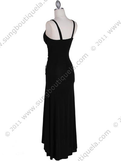 1924 Black Cocktail Dress - Black, Back View Medium