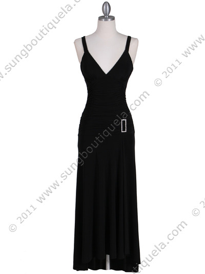 1924 Black Cocktail Dress - Black, Front View Medium