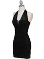 1962  Black Pleated Party Dress with Rhinestone Pin - Alt. Image