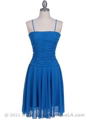 Turquoise Party Dress - Front Image