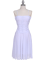 1975 White Party Dress - White, Front View Thumbnail