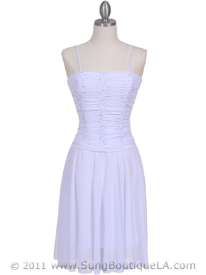 White Party Dress - Front Image