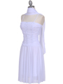 1975 White Party Dress - White, Alt View Thumbnail