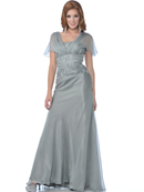 Mother of the Bride Chiffon Evening Gown with Sequins and Beads