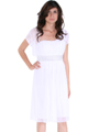 White One Shoulder Cocktail Dress with Bolero - Front Image
