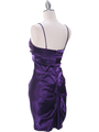 2010 Purple Homecoming Cocktail Dress - Purple, Back View Thumbnail