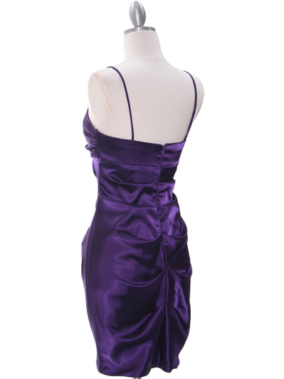 2010 Purple Homecoming Cocktail Dress - Purple, Back View Medium