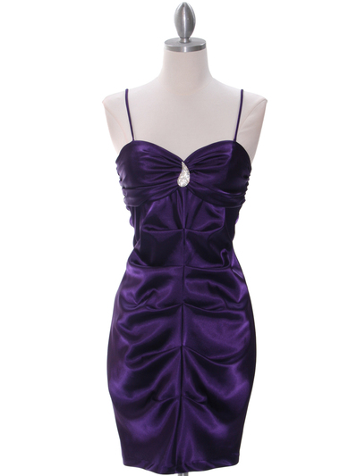 2010 Purple Homecoming Cocktail Dress - Purple, Front View Medium