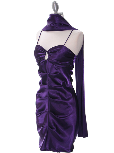 2010 Purple Homecoming Cocktail Dress - Purple, Alt View Medium