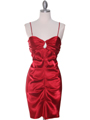 2010 Red Homecoming Dress - Red, Front View Thumbnail