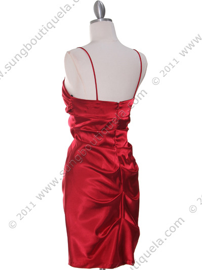 2010 Red Homecoming Dress - Red, Back View Medium