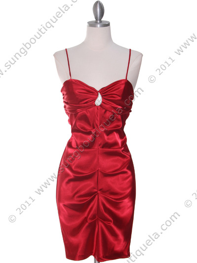 2010 Red Homecoming Dress - Red, Front View Medium