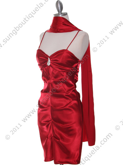2010 Red Homecoming Dress - Red, Alt View Medium