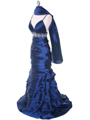 20129 Navy Taffeta Prom Evening Dress - Navy, Alt View Thumbnail
