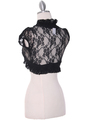 2017L Black Lace Short Sleeve Bolero - Black, Back View Thumbnail