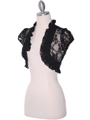 2017L Black Lace Short Sleeve Bolero - Black, Alt View Thumbnail