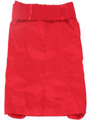 2092 Red Stretch Taffeta Pencil Skirt with Belt - Red, Back View Thumbnail