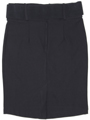 2116 Black Pencil Skirt with Belt - Black, Back View Thumbnail