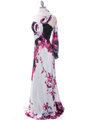 Print One Shoulder Evening Dress