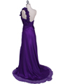 2129 Purple One Should Prom Evening Dress - Purple, Back View Thumbnail