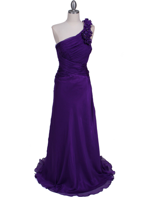 Purple One Should Prom Evening Dress - Front Image