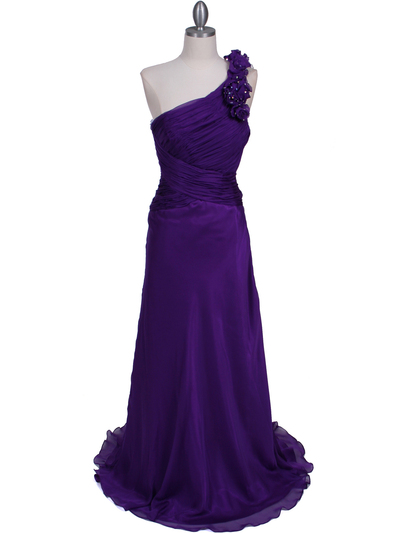 2129 Purple One Should Prom Evening Dress - Purple, Front View Medium