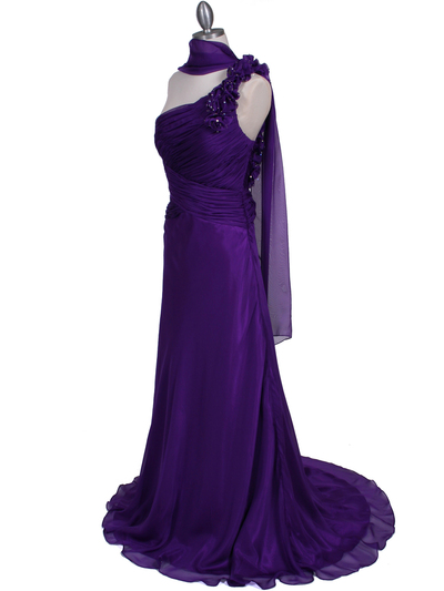 2129 Purple One Should Prom Evening Dress - Purple, Alt View Medium