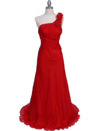 2129 Red One Should Prom Evening Dress - Red, Front View Medium